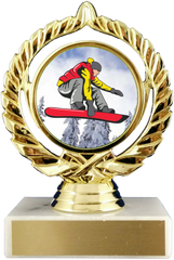 Snowboarding Logo Trophy On Marble Base-Trophy-Schoppy's Since 1921