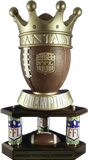Fantasy Football Crown Large Three Column Perpetual Trophy-Schoppy's Since 1921