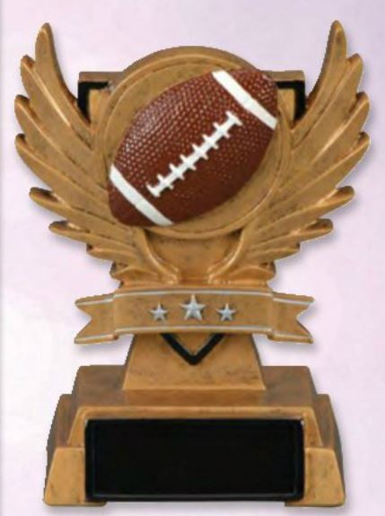 Winged Victory Football Resin-Trophy-Schoppy's Since 1921