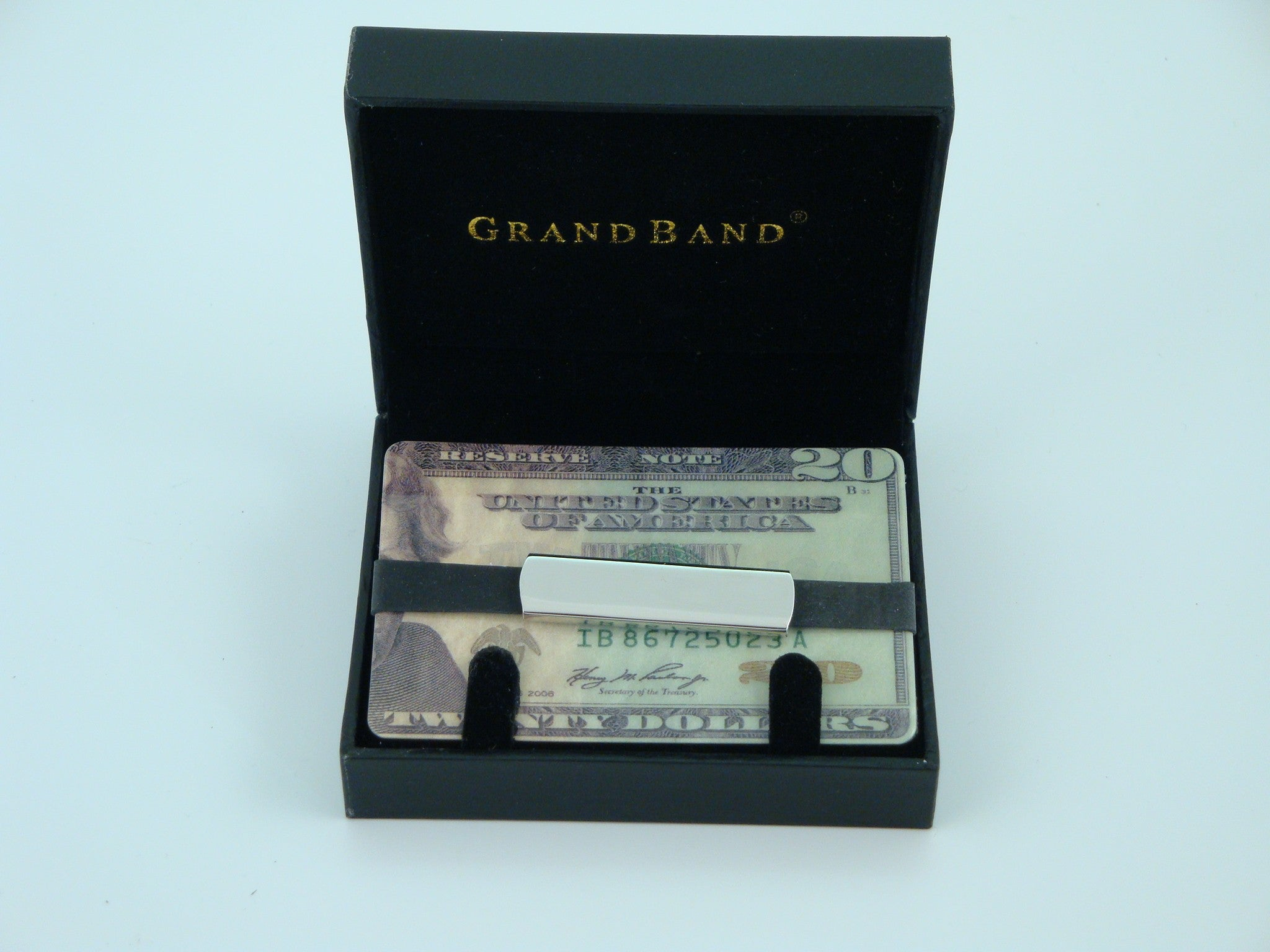 Grand Band Stainless Steel Plain-Money Clip-Schoppy's Since 1921