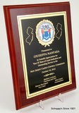High Gloss Mahogany plaque with the Great Seal of New Jersey 8x10-Plaque-Schoppy's Since 1921