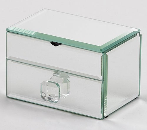 Lift Top Mirror Jewelry Box
