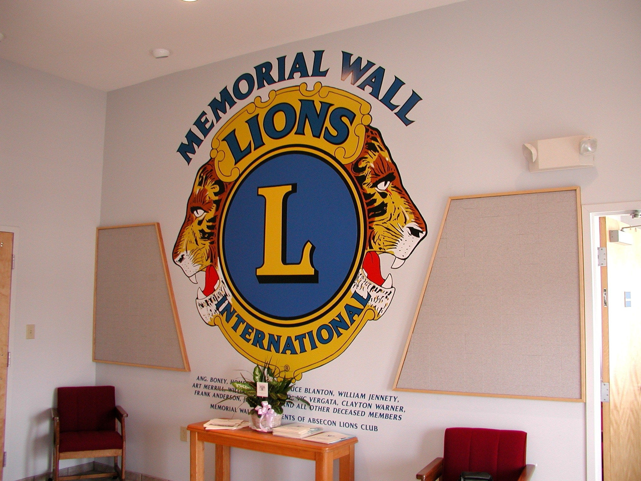 Lions Club Braille Donor Wall-Donor Project-Schoppy's Since 1921