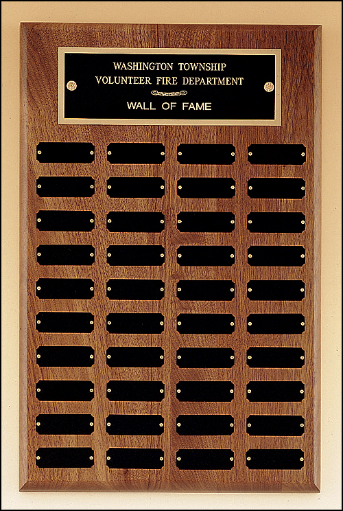 Perpetual Plaque With 40 Black Brass Plates