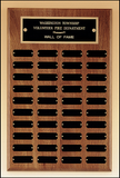 Perpetual Plaque With 40 Black Brass Plates-Plaque-Schoppy's Since 1921