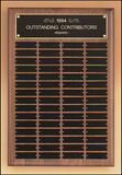 Rectangle Perpetual Plaque With Black Brushed Brass Plates-Plaque-Schoppy's Since 1921