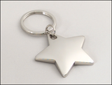 Polished Star-Shaped Silver Keyring-Key Chain-Schoppy's Since 1921