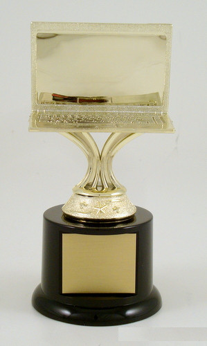 Computer Trophy on Black Round Base