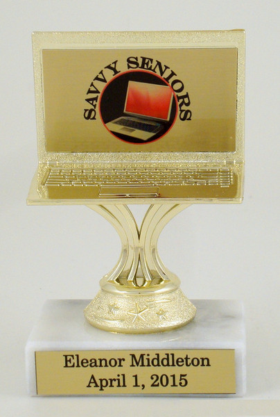 Computer Trophy on Genuine Marble Base-Trophies-Schoppy's Since 1921