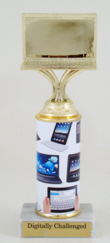 Computer Trophy on Original Metal Roll Column