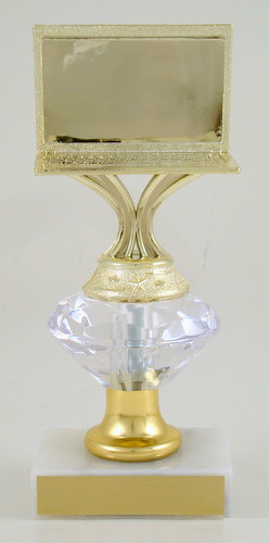 Computer Trophy on Diamond Riser - Medium