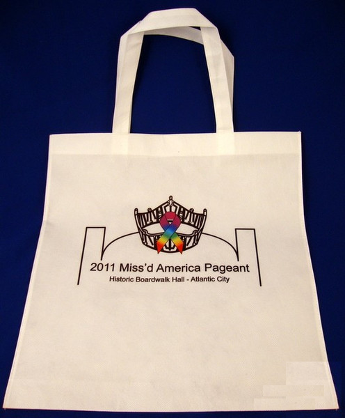 2011 Miss'd America Reusable White Canvas Bag-Gift-Schoppy's Since 1921