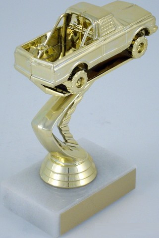 4x4 Pick-Up Trophy on Marble Base