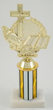 "3"" Column Religious Trophy-Trophies-Schoppy's Since 1921"