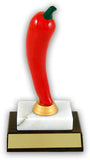 Chili Pepper Trophy on Marble and Slant Front Wood Base-Trophies-Schoppy's Since 1921