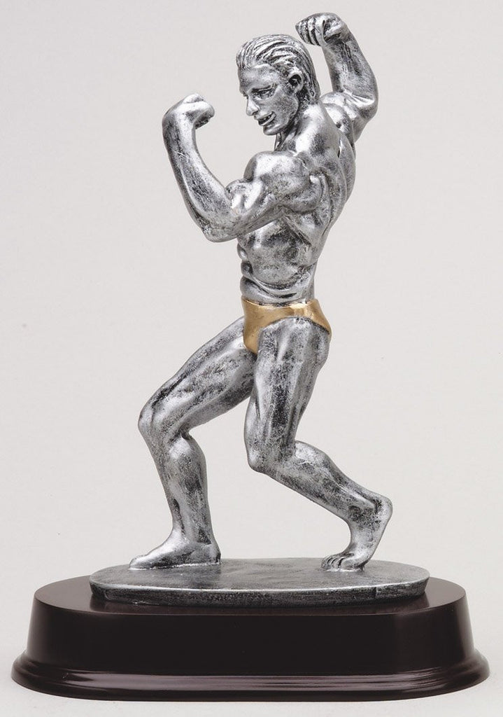 Side Double Bicep Pose Bodybuilding Trophy