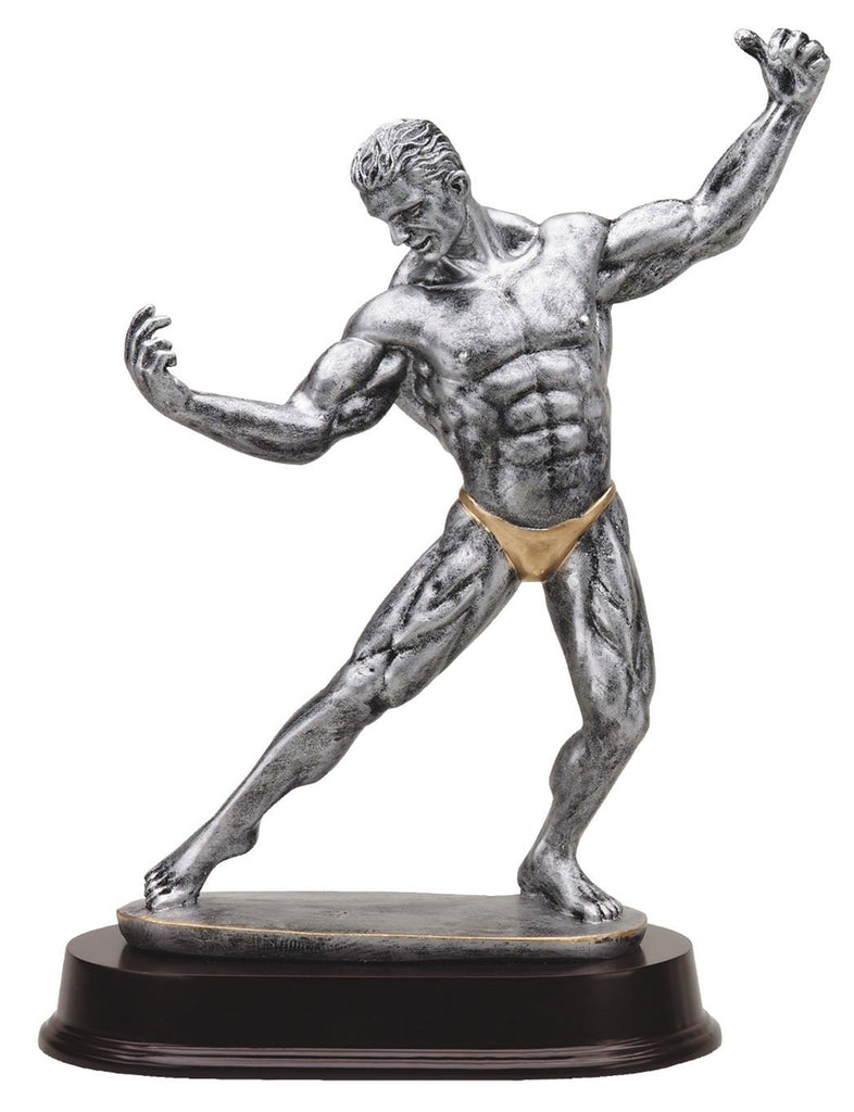 Front Double Bicep Pose Bodybuilding Trophy