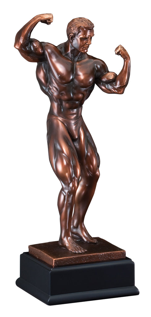 Bronze Front Double Bicep Male Pose Bodybuilding Trophy