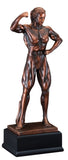 Bronze Front Double Bicep Female Pose Bodybuilding Trophy-Trophy-Schoppy's Since 1921