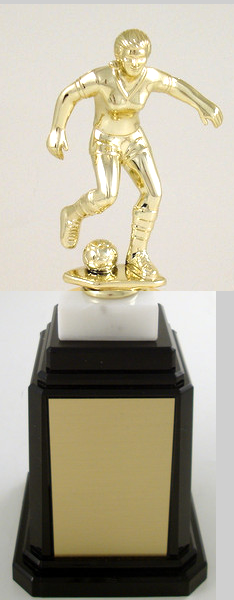 Soccer Player Figure Tower Base Trophy