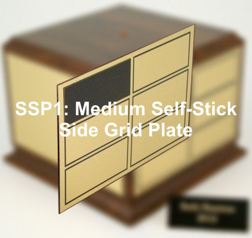 SSP1: Medium Self-Stick Side Grid Plate