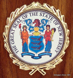 The Great Seal of New Jersey 5x7 Plaque-Plaque-Schoppy's Since 1921