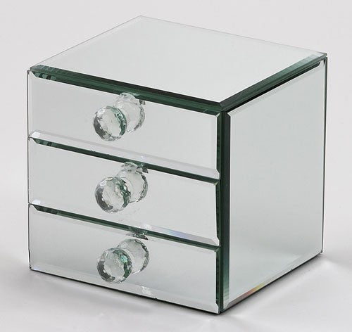 Three Drawer Mirror Jewelry Box-Box-Schoppy's Since 1921