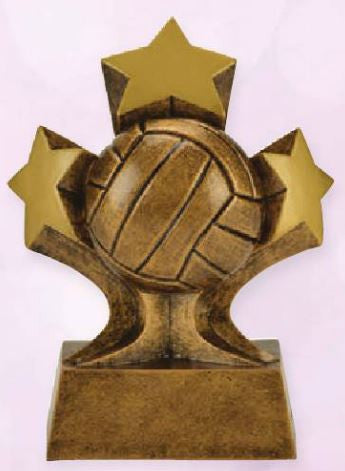 Volleyball Tri Star Resin-Trophy-Schoppy's Since 1921