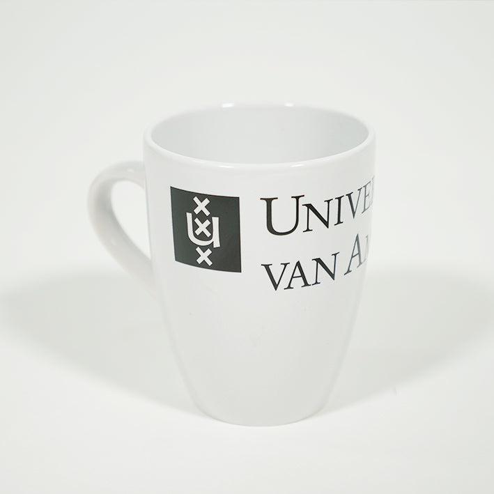 UvA Universiteit van Amsterdam mok in wit