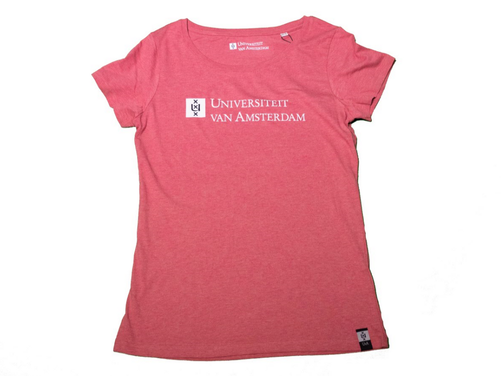 Womens UvA University of Amsterdam T-Shirt in red