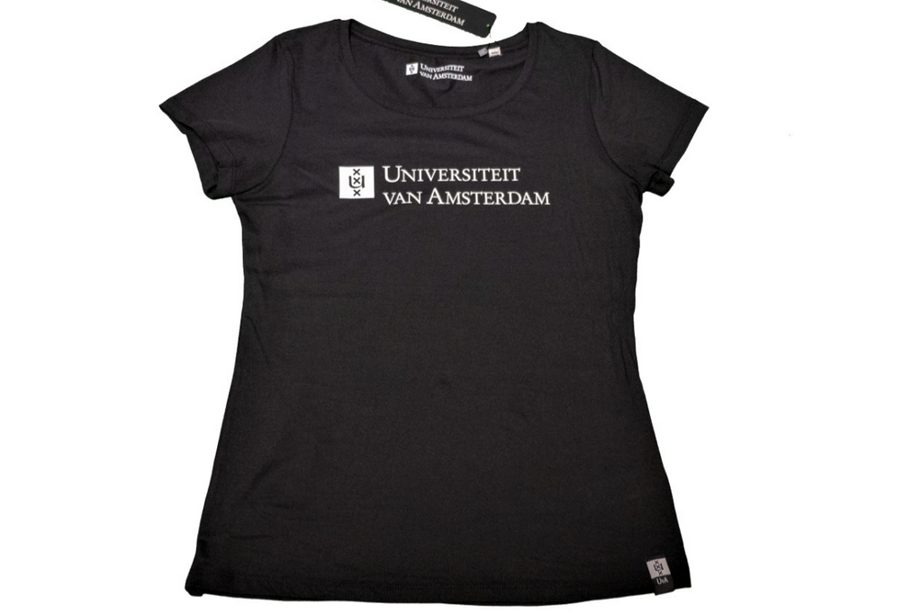 Womens UvA University of Amsterdam T-Shirt in black