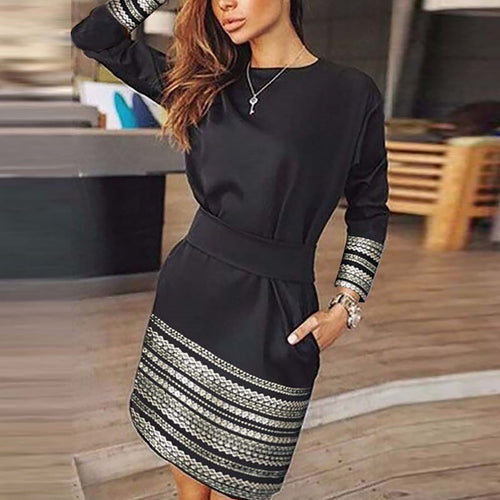 Fashion Solid Color Casual Dress