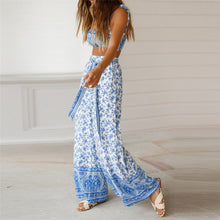 Load image into Gallery viewer, Sexy Off Shoulder Floral Printed Top And Pants Suit Jumpsuit