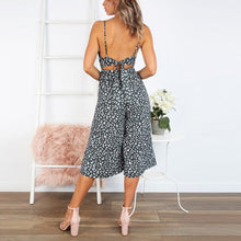 Load image into Gallery viewer, Fashion Leopard Sling Sexy V-Neck Halter Strap Jumpsuit