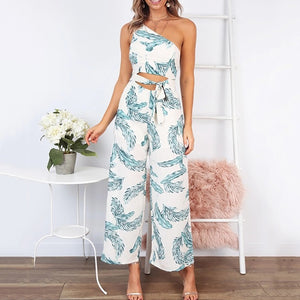 Sweet One-Shoulder Tube Top With Jumpsuit