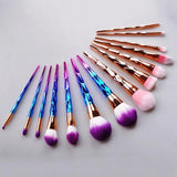 7 Pieces Mermaid Professional Makeup Brush Set