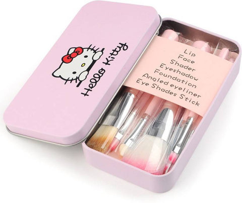 Hello Kitty mini Pink brush set  (Pack of 7)