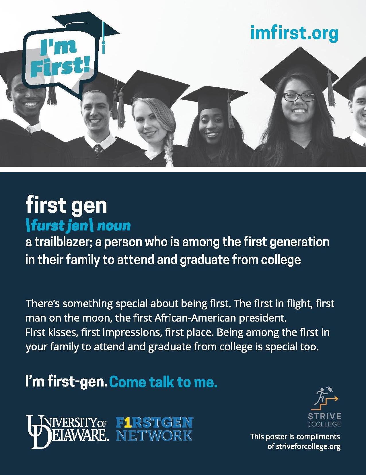 """I'm First Gen"" Poster (w/ Logo Added)"