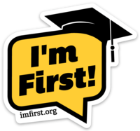 I'm First! Sticker (Your Colors)