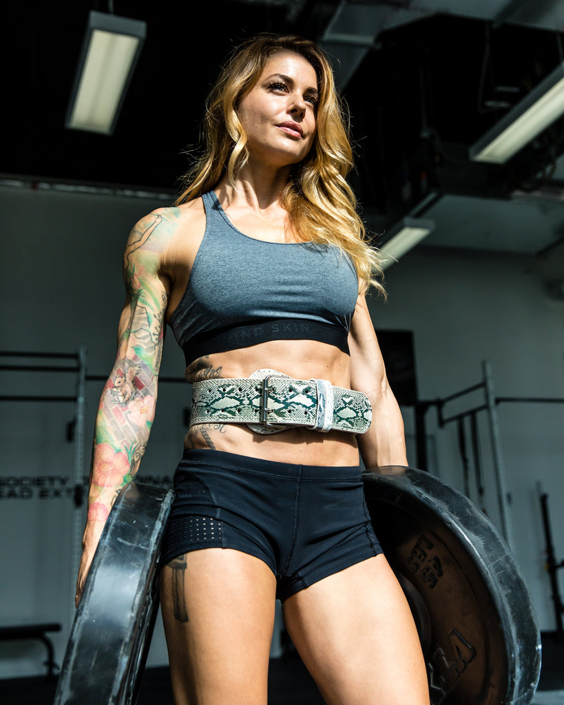 Christmas Abbott Workout.Python Leather Lifting Belt By Christmas Abbott