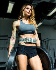 Python Leather Lifting Belt by Christmas Abbott