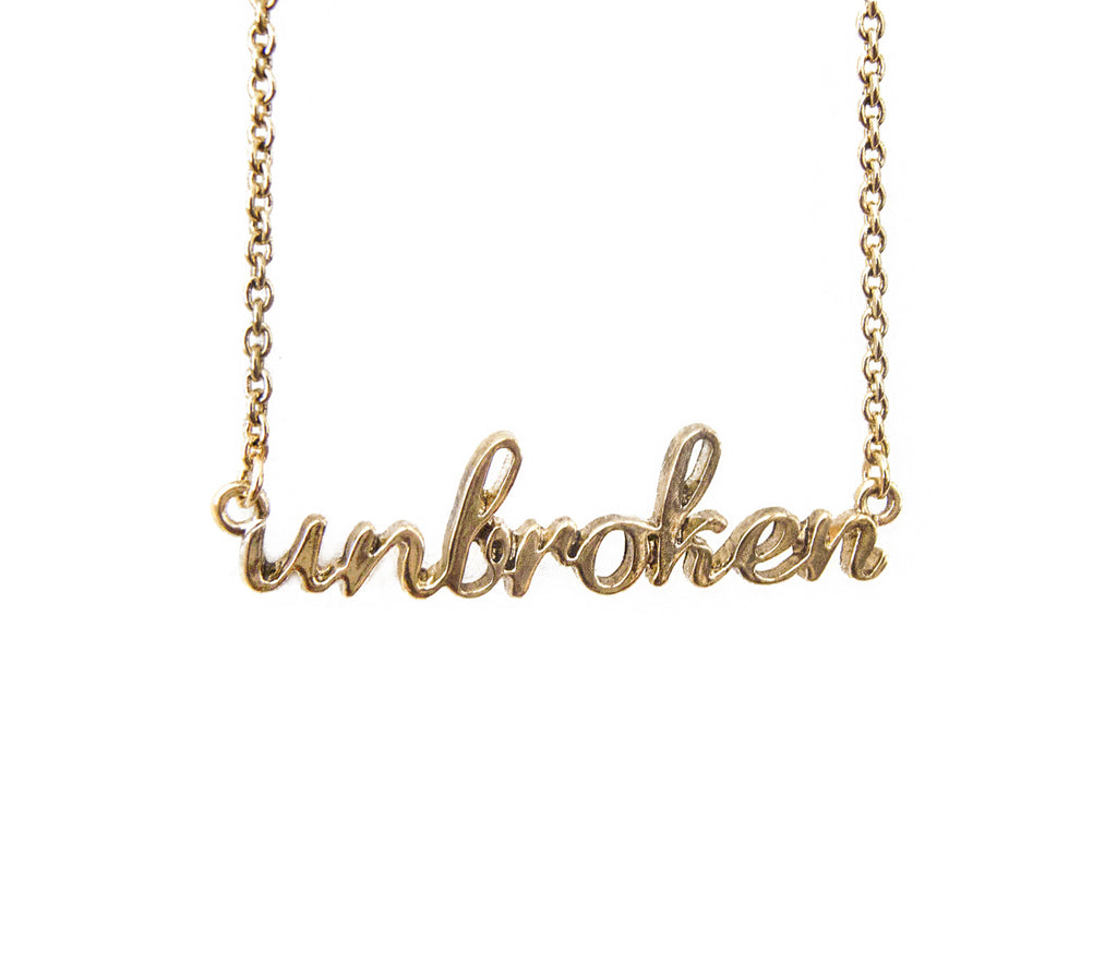 The Unbroken Necklace in Gold - Benefiting Phoenix Multisport