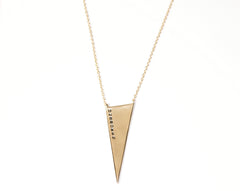 Unbroken Triangle Necklace in 18k Yellow Gold