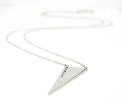 Unbroken Triangle Necklace in Sterling Silver
