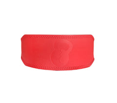 Matte Red Leather Lifting Belt