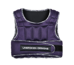 Weighted Vest - Purple Mesh with Paisley Print 20lb