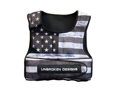 Stars and Stripes Cropped 20lb Weight Vest
