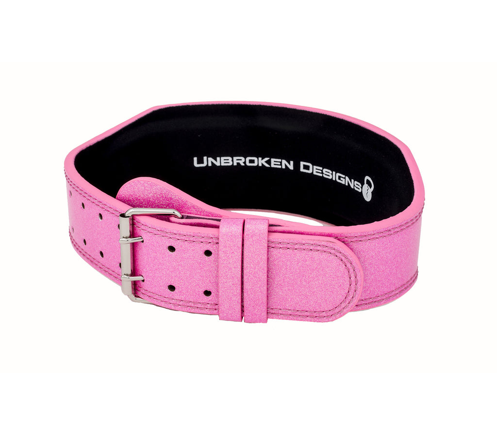 "Sparkle Princess 4"" Leather Lifting Belt"