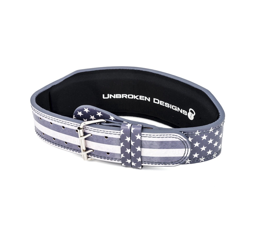 Stars and Stripes Leather Lifting Belt