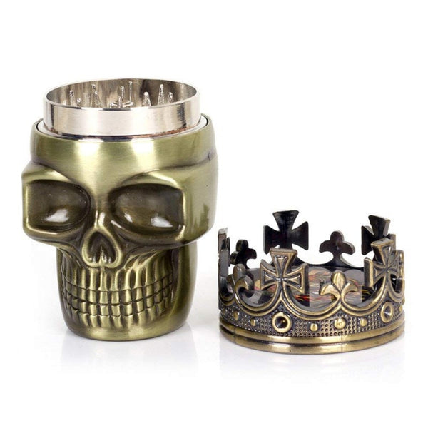 Skeleton King Skull Herb Grinder 3 Layer